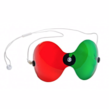 Rood-groen bril curved